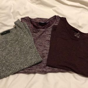 Three size medium woman's Apt. 9 shirts.  NWOT
